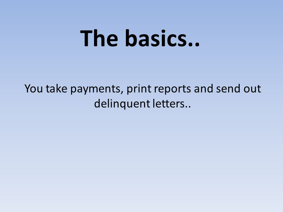 Automated Mortgage Payments Receipt mortgage payments by file rather than entering each bill number.