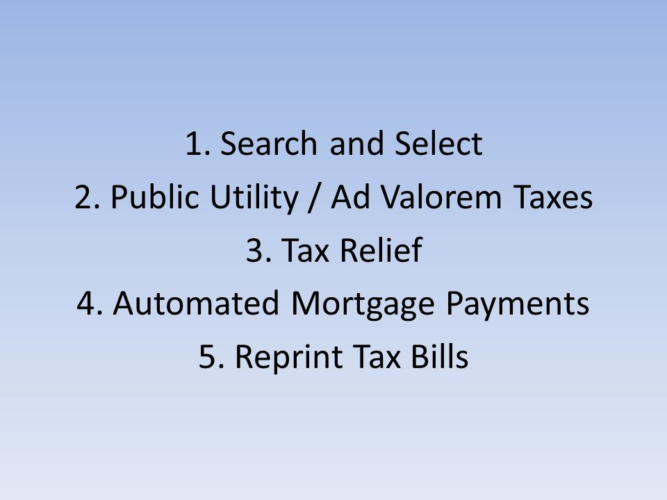 To Issue Tax Relief 5. Transactions