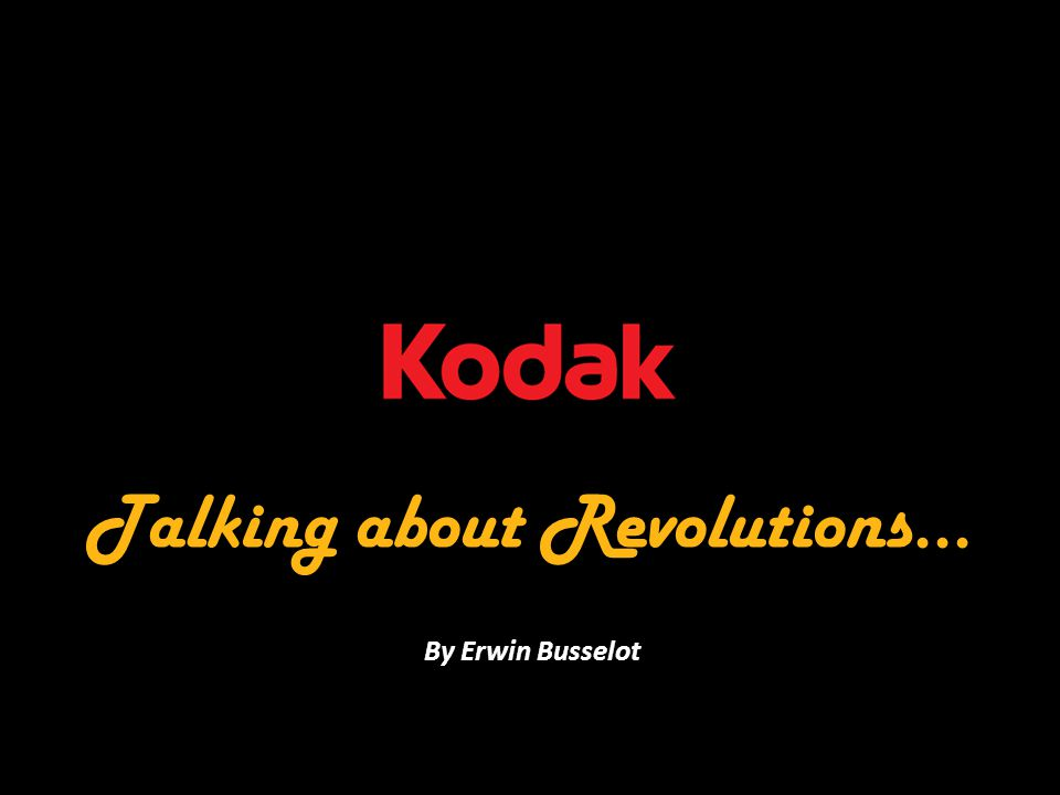 Talking about Revolutions... By Erwin Busselot