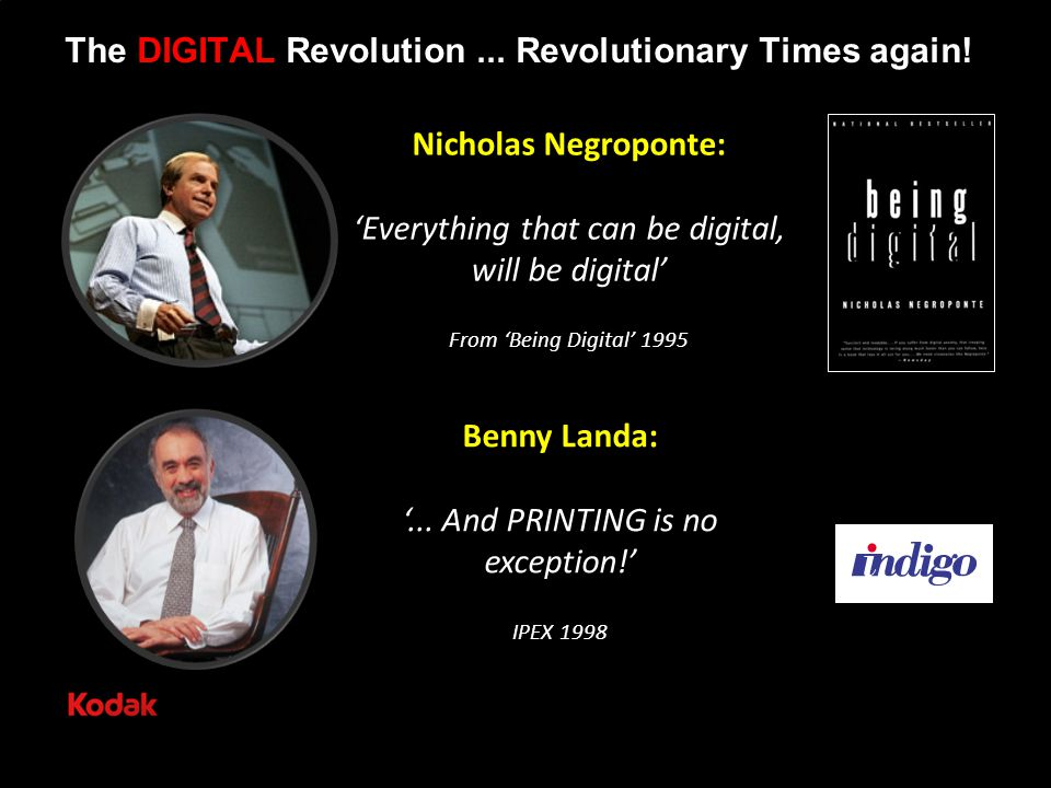The DIGITAL Revolution... Revolutionary Times again.