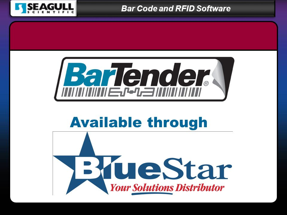 Bar Code and RFID Software Available through