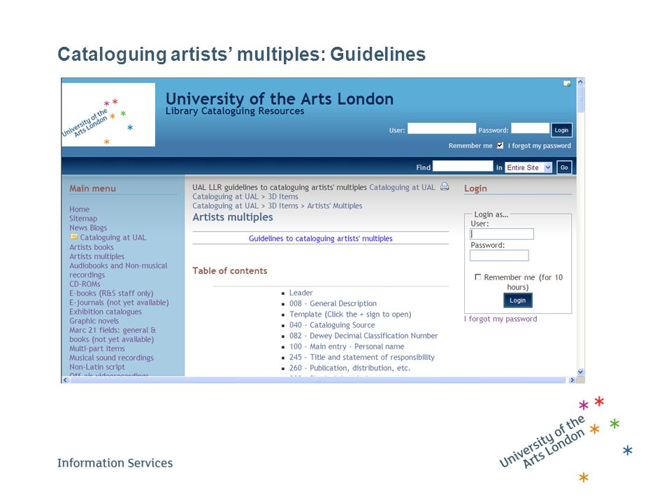 Cataloguing artists' multiples: Guidelines