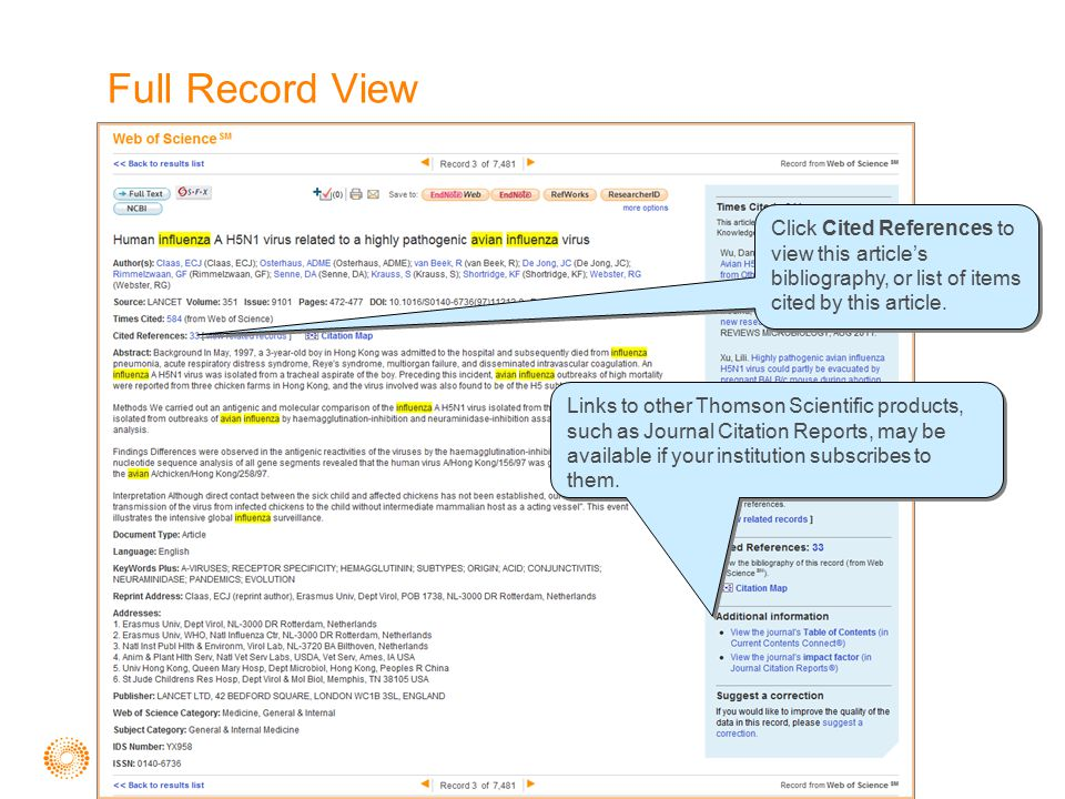 Full Record View Click Cited References to view this article's bibliography, or list of items cited by this article.