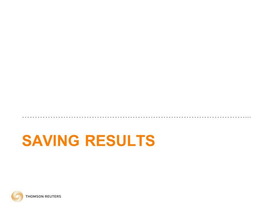 SAVING RESULTS ……………………………………………………………………………...