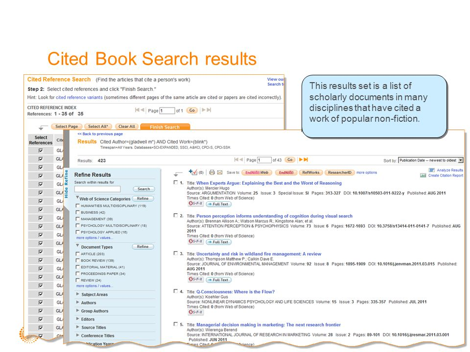 Cited Book Search results Note the variations in title and publication year for this work.