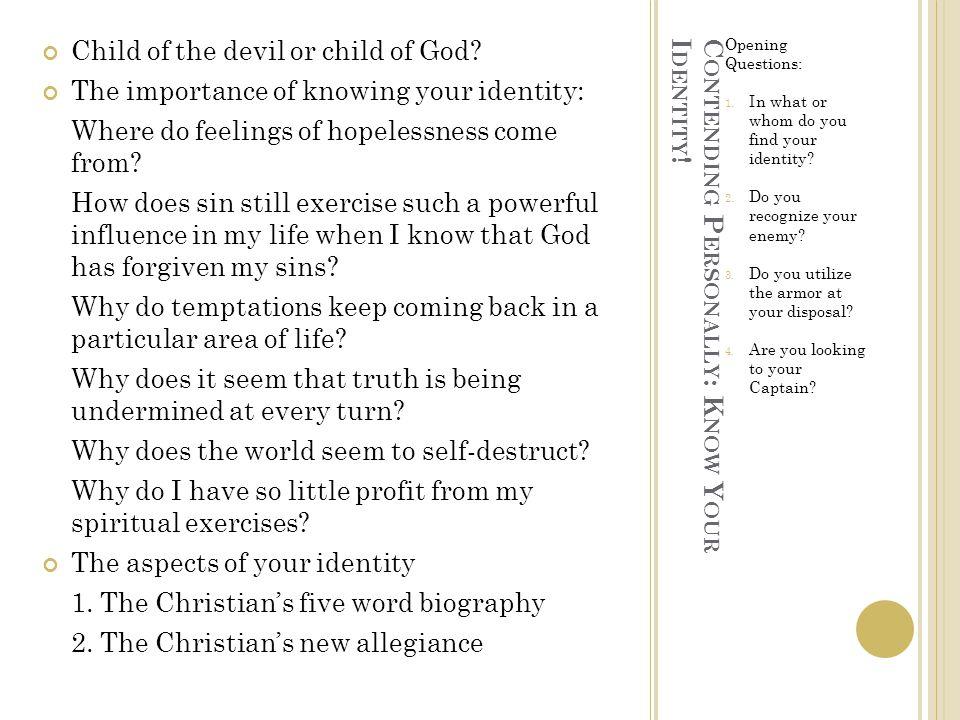 C ONTENDING P ERSONALLY : P UT ON G OD ' S A RMOR Ephesians 6:14-18
