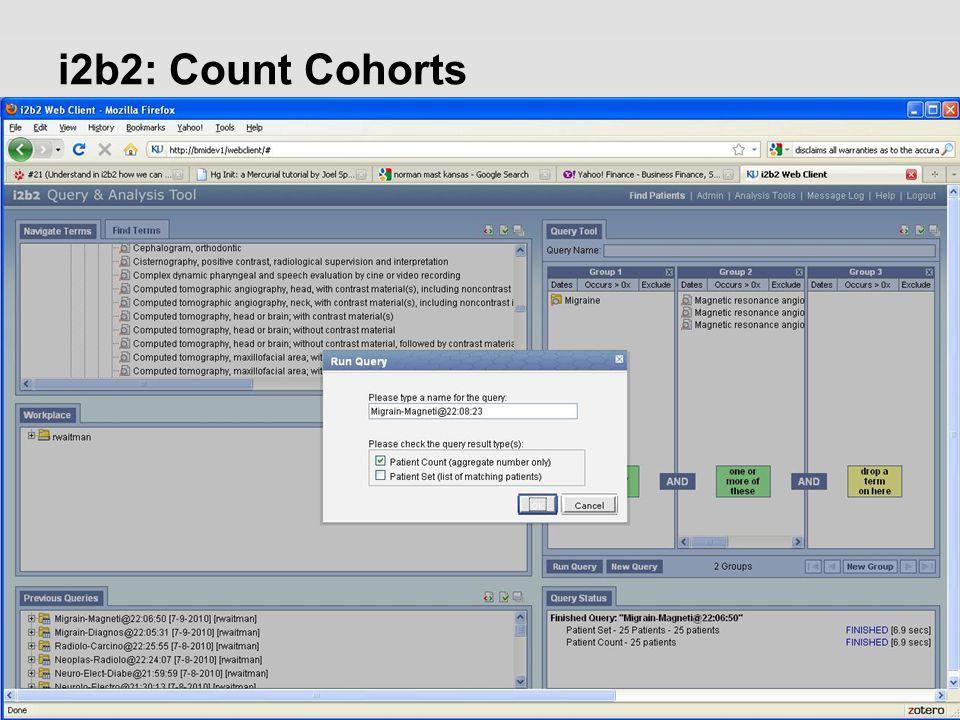 i2b2: Count Cohorts