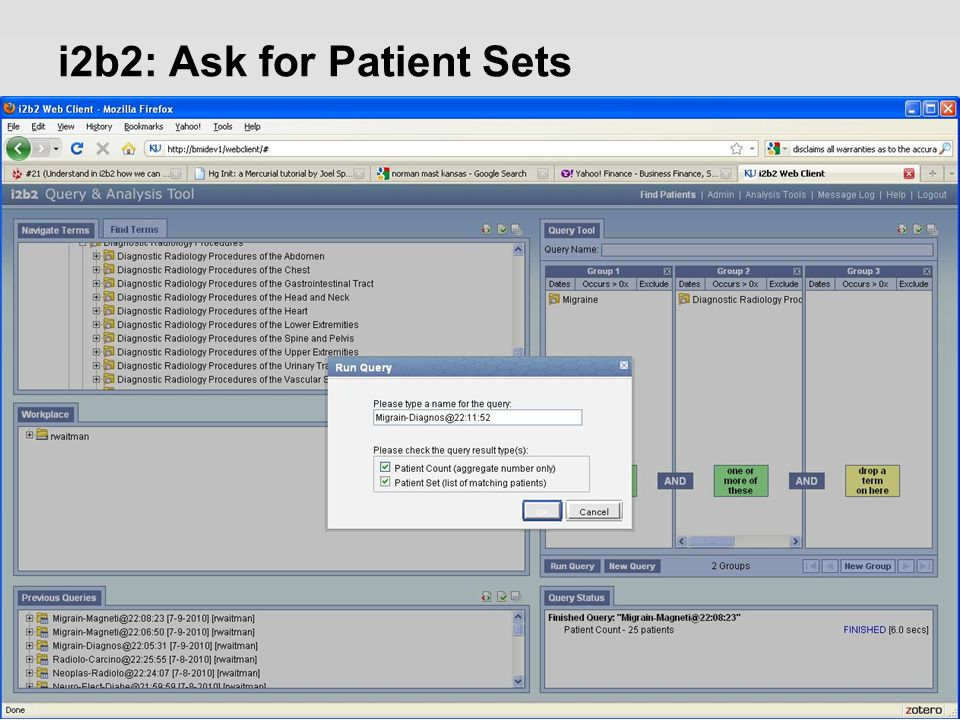 i2b2: Ask for Patient Sets