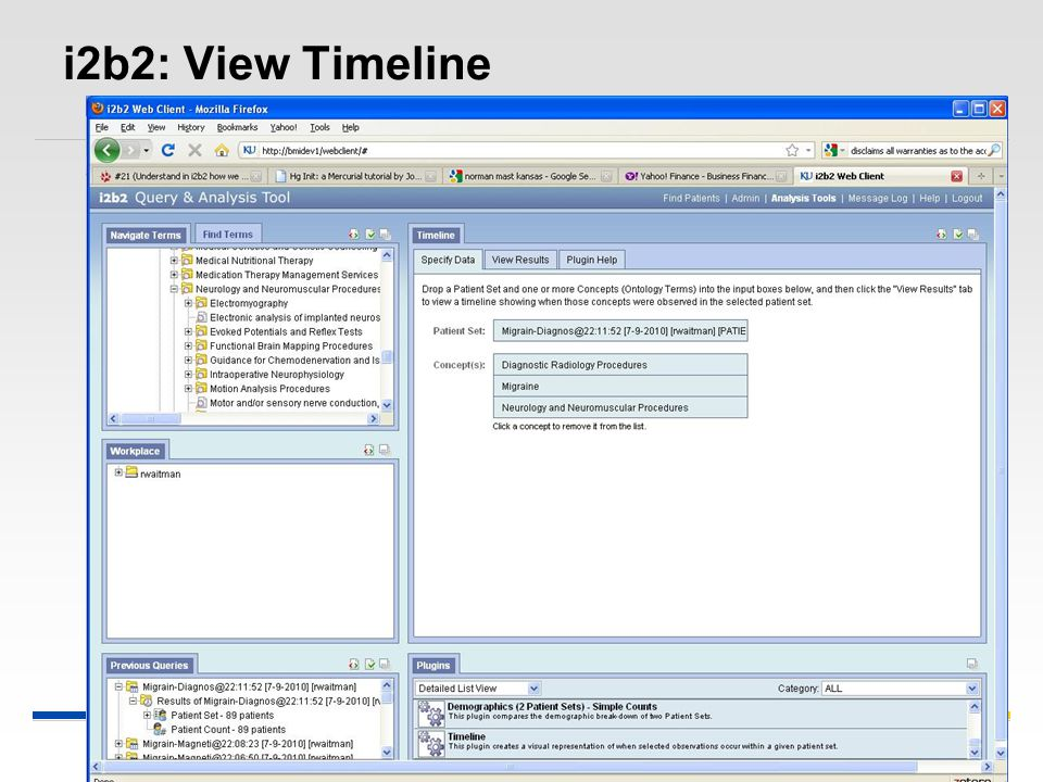 i2b2: View Timeline