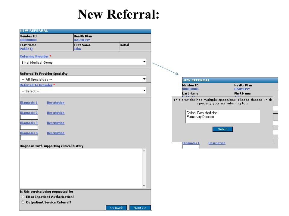 New Referral: