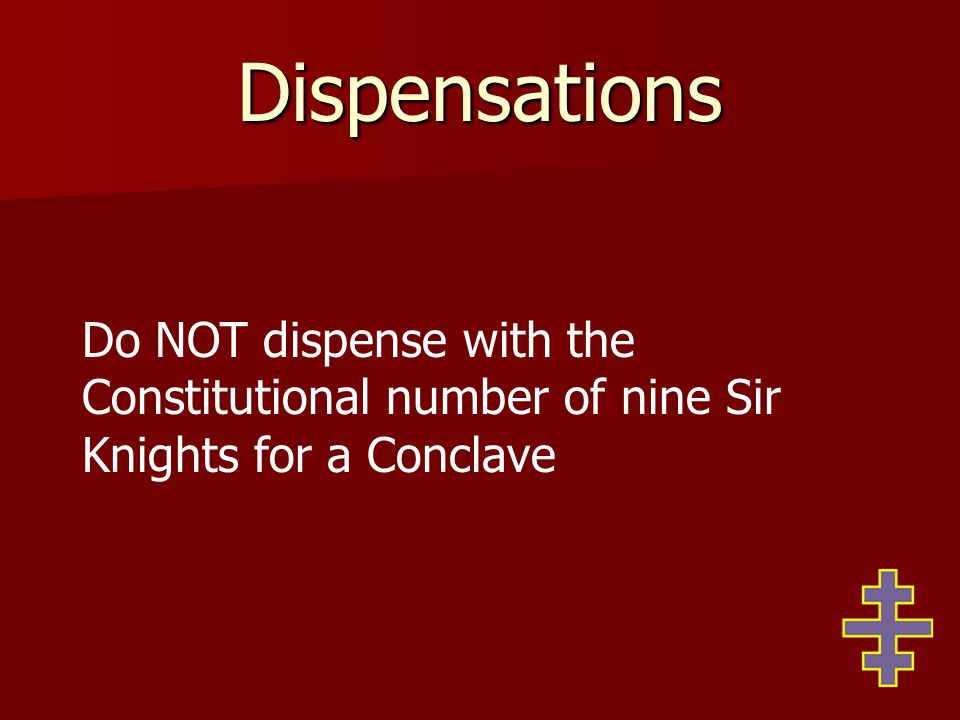 Discipline Sec 48 (d) Also to suspend from his office any Officer of the Grand or of a Constituent Commandery, but in no case shall such suspension affect the standing in the Order of such Officer or his membership in the Commandery.
