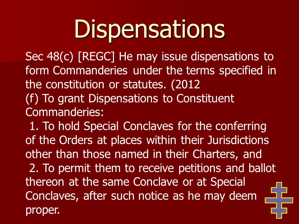 Discipline Notwithstanding the previous paragraph of this section, if a Knight Templar believes he has been involuntarily suspended or expelled from Chapter, or Council where required, either illegally or because of personal, arbitrary, capricious or other improper motive by the Chapter or Council he may appeal to the Grand Master and suspension from Templary shall be held in abeyance for a period of not more than 30 days to allow investigation.