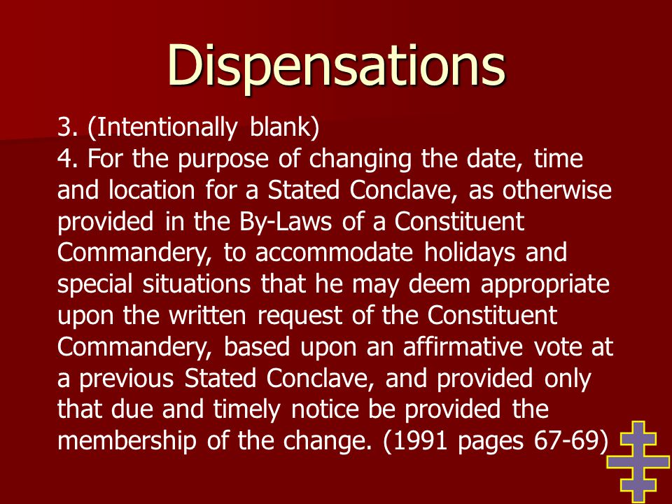 Discipline Unless it is a charge specific to Templary, whenever possible, any charges should be referred to and trials conducted by the Grand Lodge of your jurisdiction.