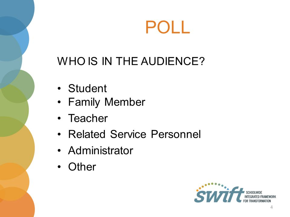 POLL WHO IS IN THE AUDIENCE.