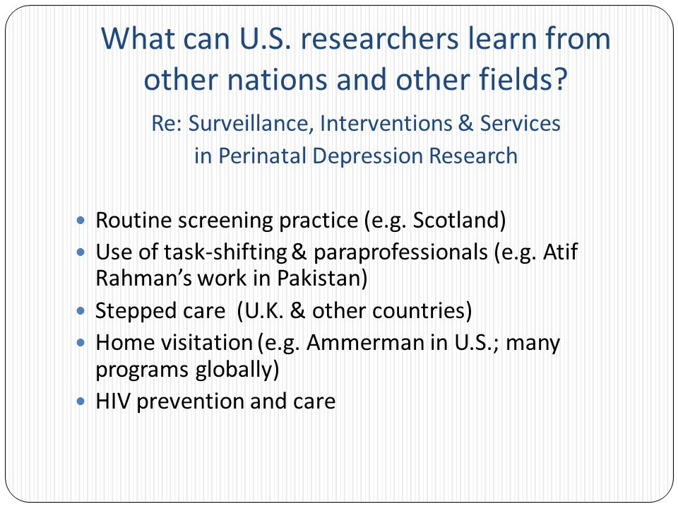 What can U.S. researchers learn from other nations and other fields.