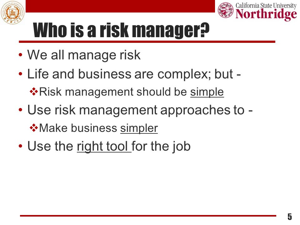 Risk Evaluation Domain Risk Evaluation Essentials:  Risk scenarios  Business impact descriptions 26