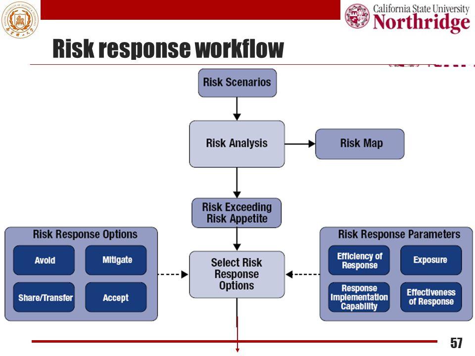 Risk response workflow 57