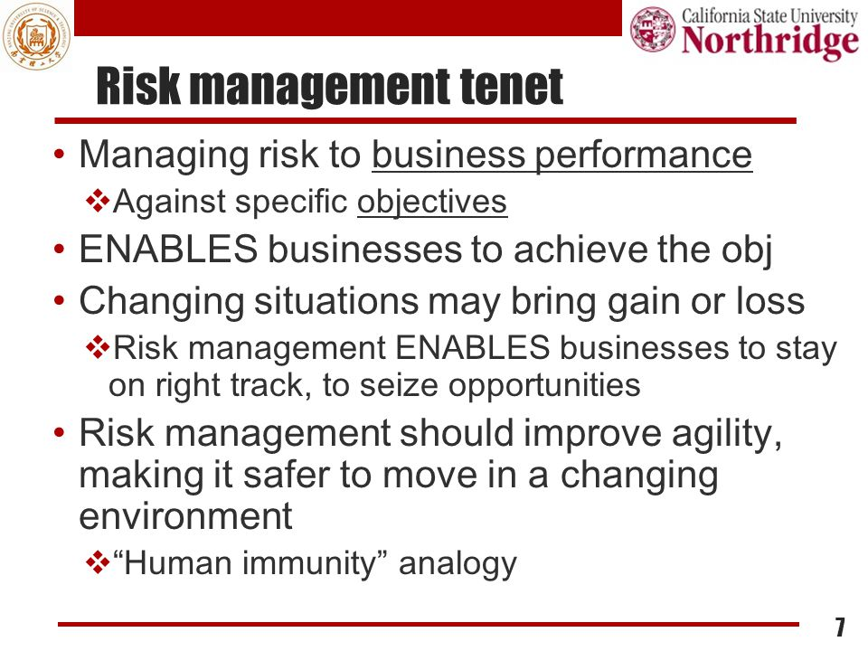 Risk Scenarios Definition A risk scenario is a description of a possible event that, when occurring, will have an uncertain impact on the achievement of the enterprise's objectives.