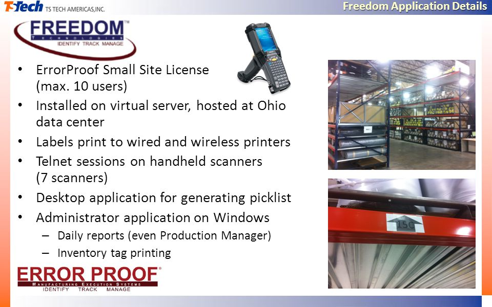 Freedom Application Details ErrorProof Small Site License (max.