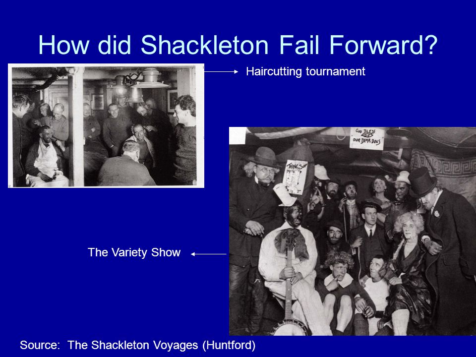 How did Shackleton Fail Forward.