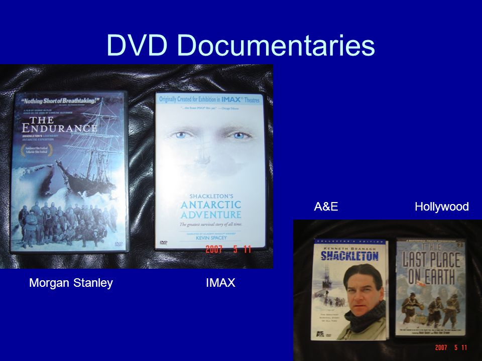 DVD Documentaries Morgan StanleyIMAX A&EHollywood