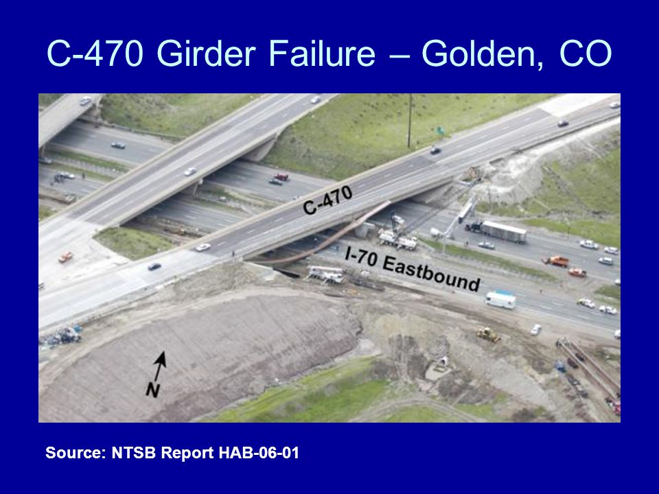 C-470 Girder Failure – Golden, CO Source: NTSB Report HAB-06-01