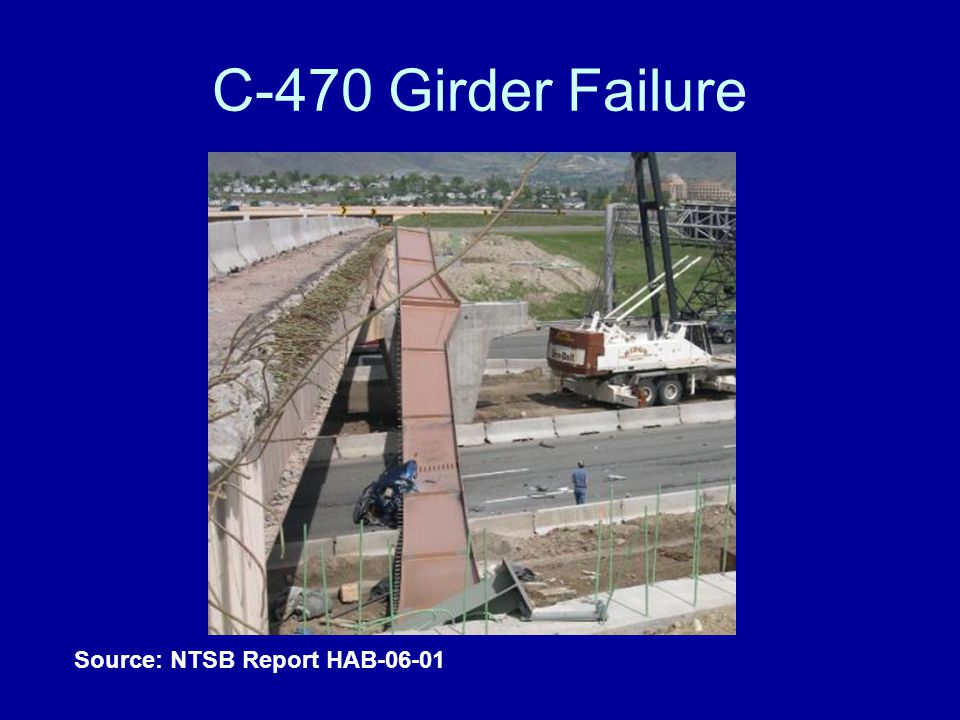 C-470 Girder Failure Source: NTSB Report HAB-06-01