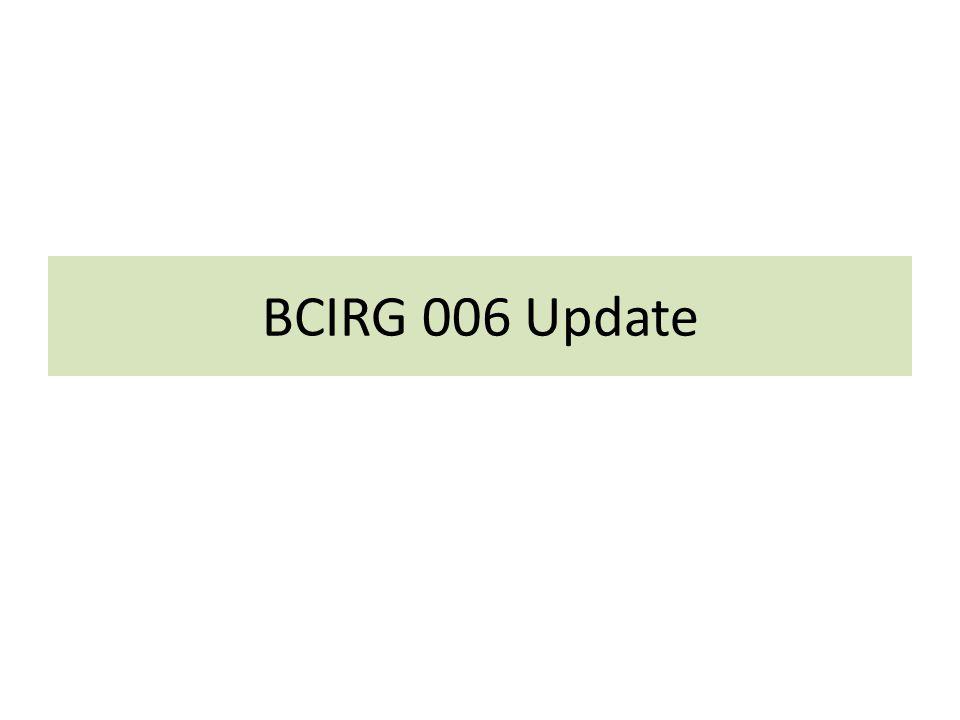 BCIRG 006 Update