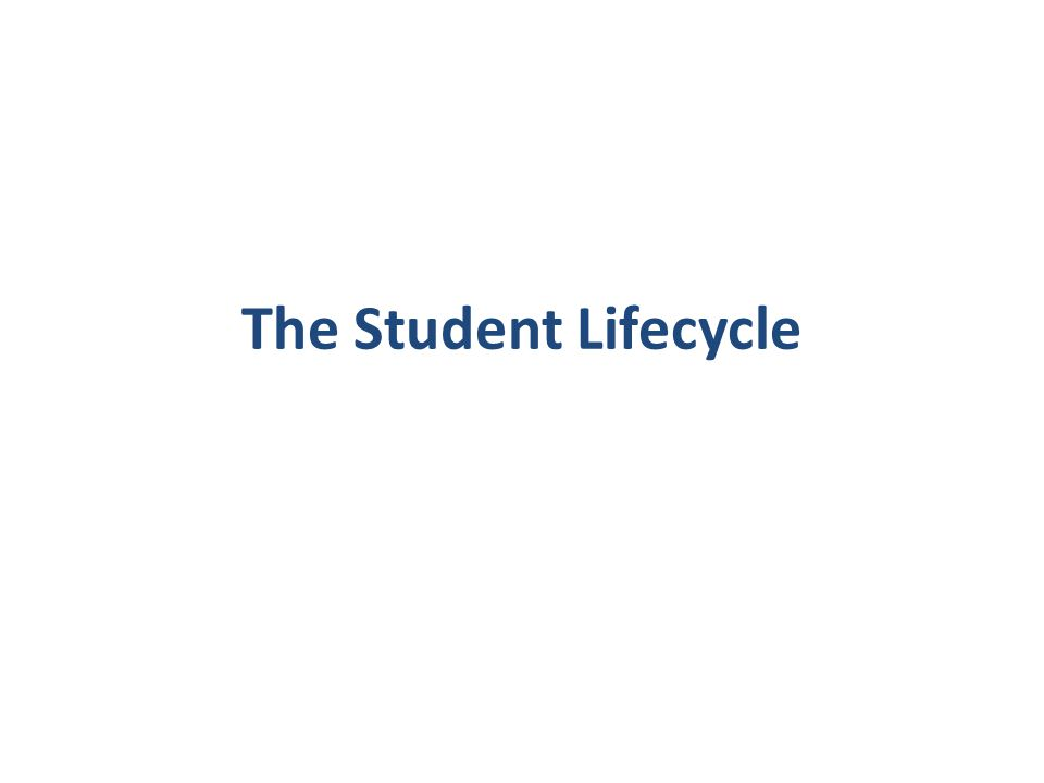 The Student Lifecycle
