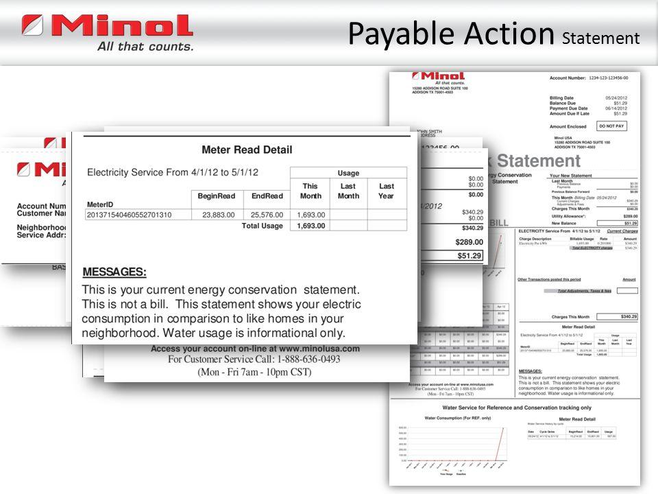 Payable Action Statement