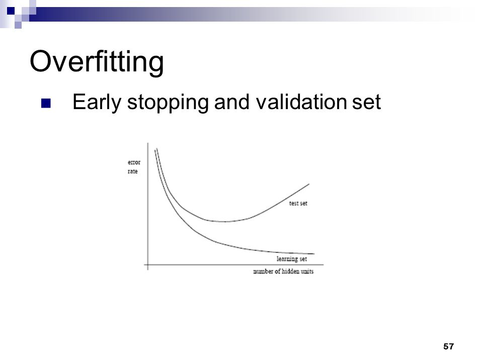 57 Overfitting Early stopping and validation set