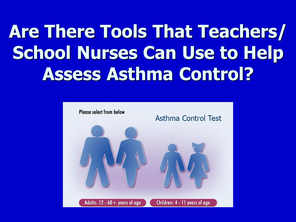 Are There Tools That Teachers/ School Nurses Can Use to Help Assess Asthma Control? Asthma Control Test