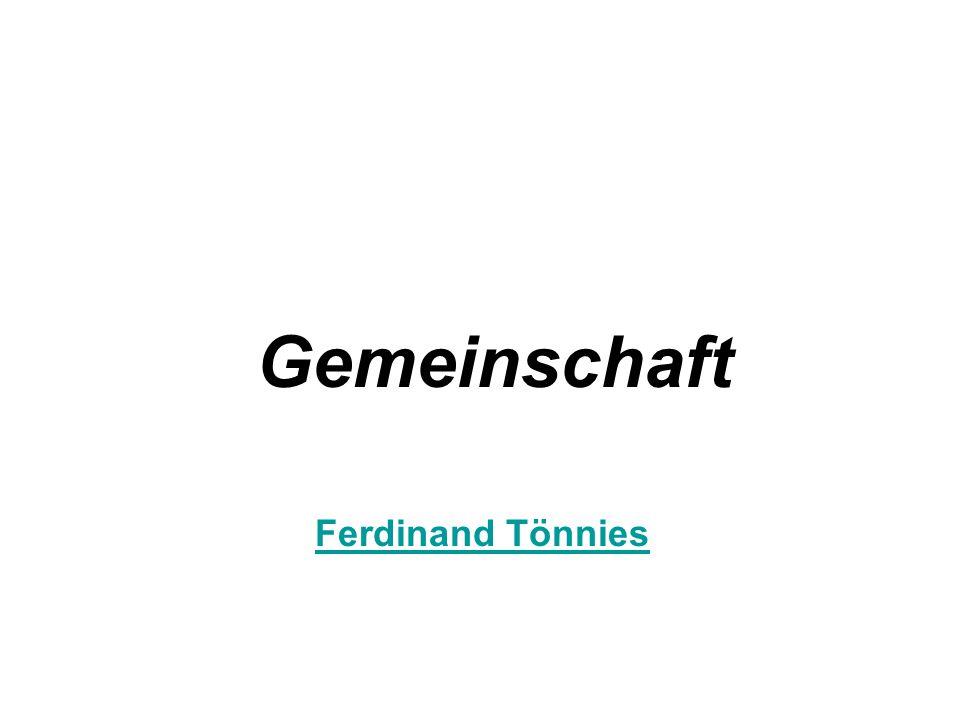 Gemeinschaft Ferdinand Tönnies