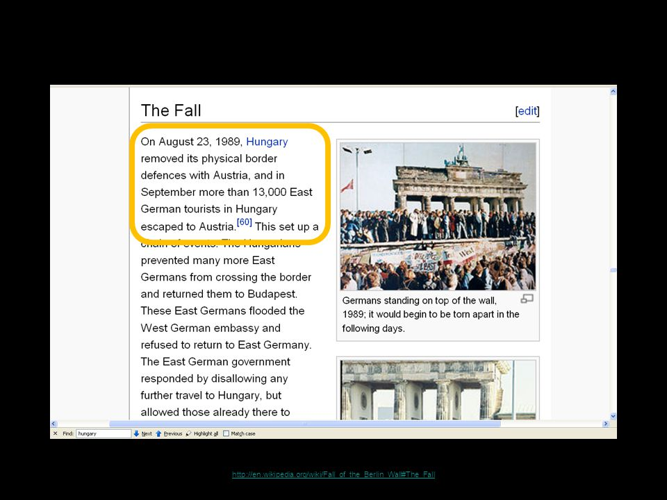 http://en.wikipedia.org/wiki/Fall_of_the_Berlin_Wall#The_Fall
