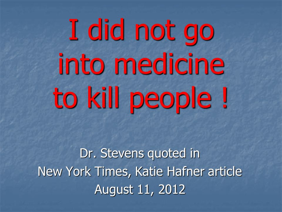 For 2400 years, physicians have withstood the allure of promoting death.