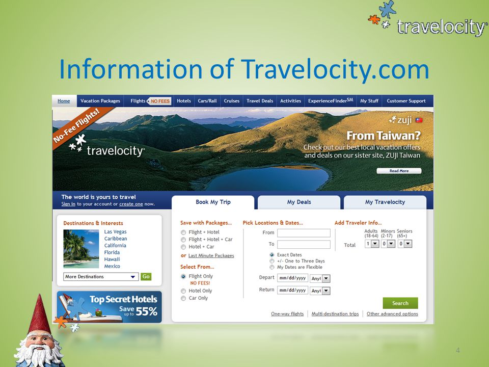 15 How can Travelocity make money ‧ Advertising ‧ Partner Network