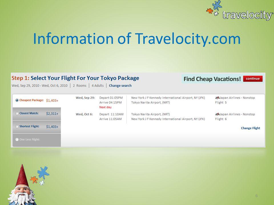 7 Service of Travelocity.com