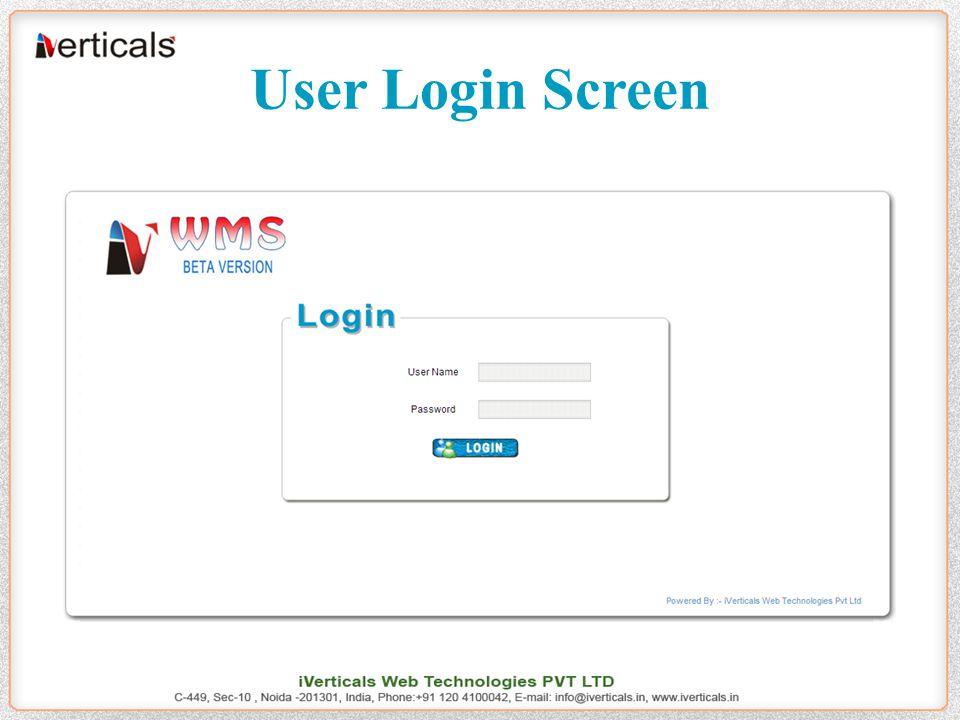 User Login Screen