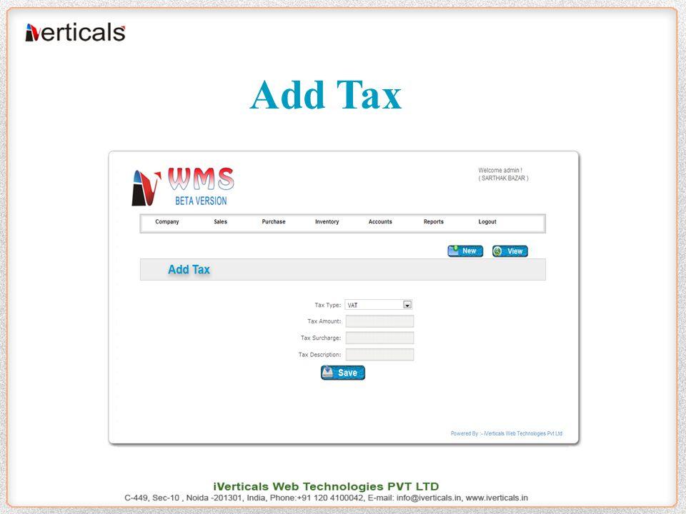 Add Tax
