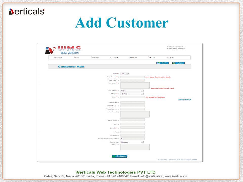 Add Customer