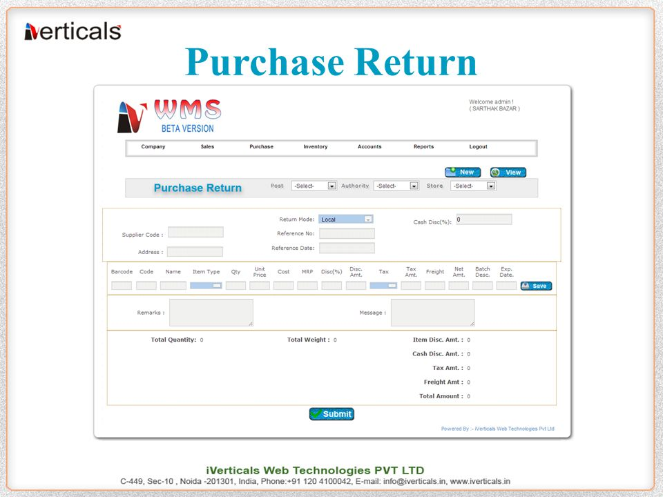 Purchase Return