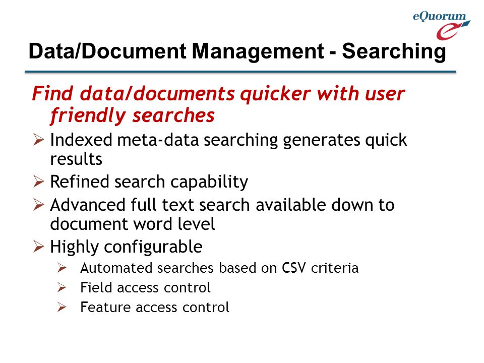 View all document types with a single viewer, no CAD software needed for drawings  Multiple viewing templates for easy browsing (Office files, PDFs, CAD, TIFF, etc.)  Extremely quick rendering of all file types  Mark-up on the fly, choose overlay types  View all CAD generated drawings without client software, using your browser Data/Document Management - Seeing
