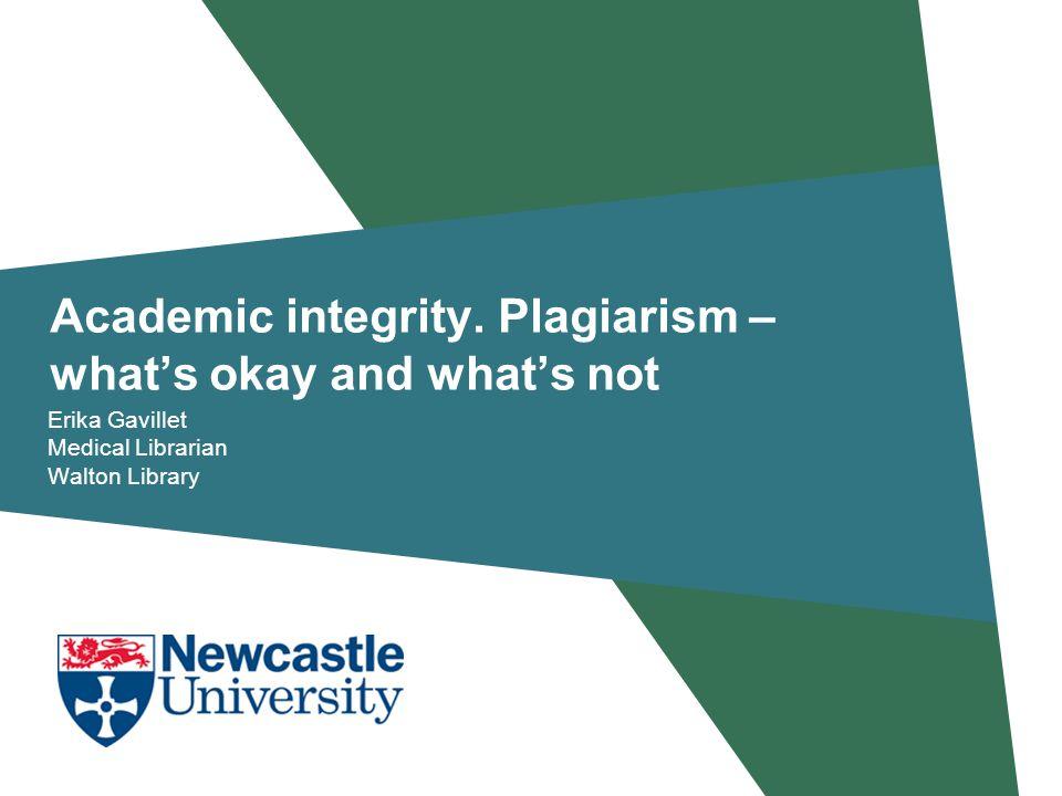 Academic integrity.