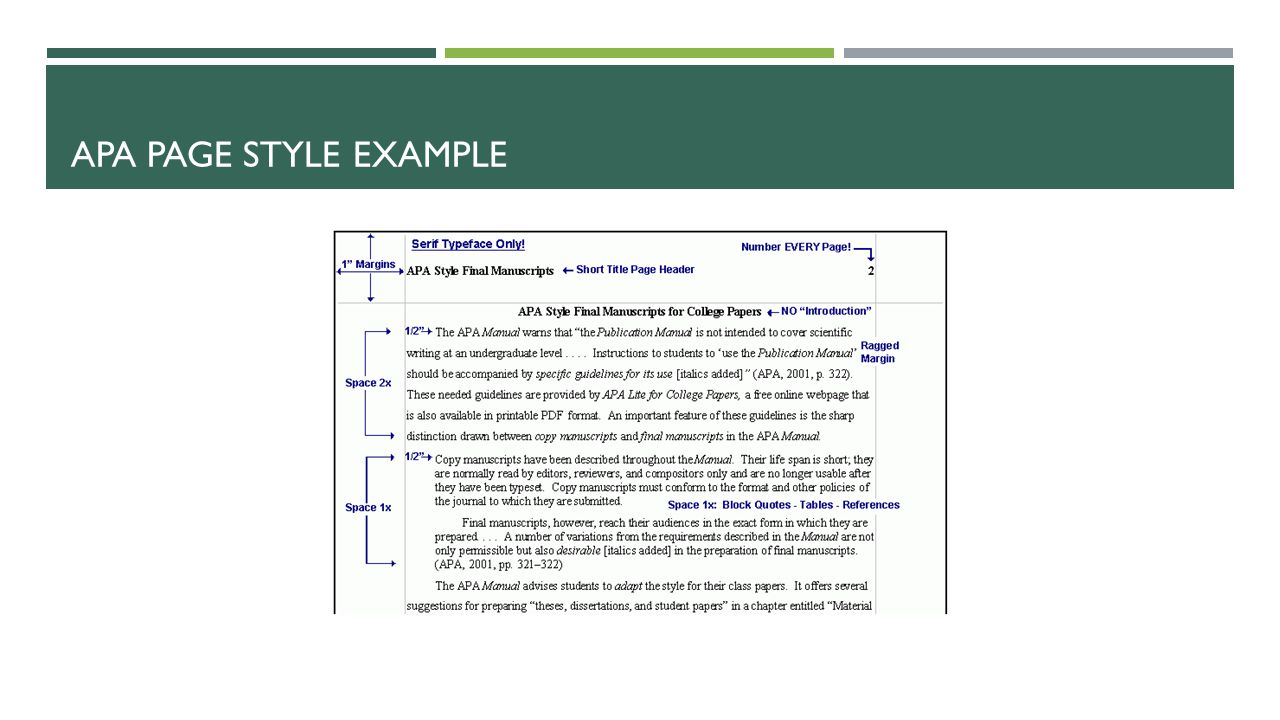 APA PAGE STYLE EXAMPLE