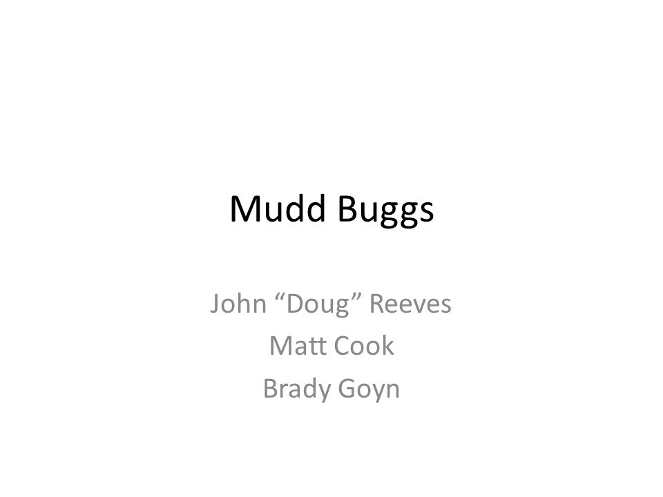 Background Mudd Buggs was created by rich billionaire mechanics that got bored and decided to take on a new sector of sales.
