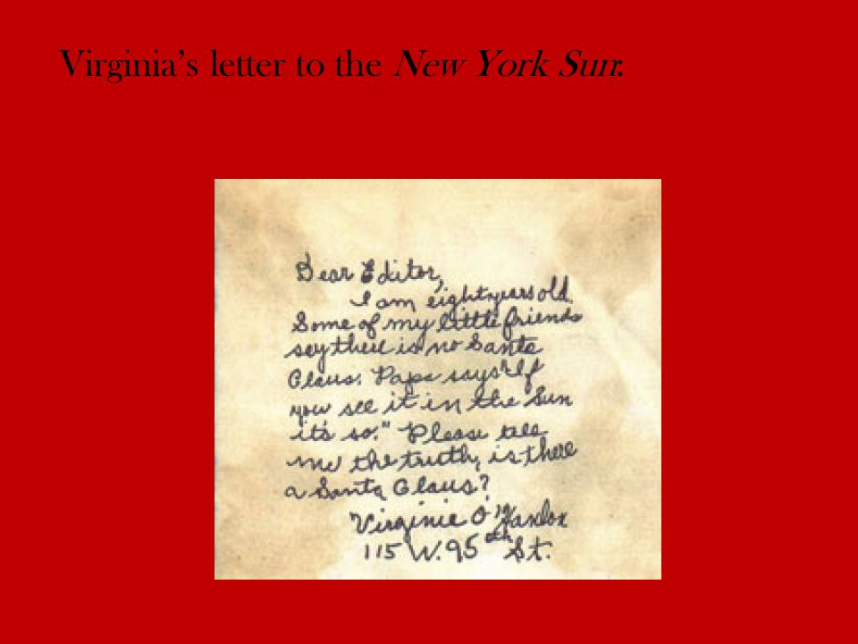 Virginia's letter to the New York Sun: