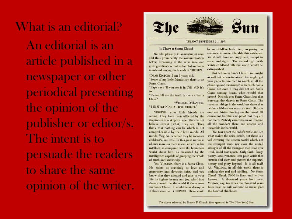 What is an editorial.