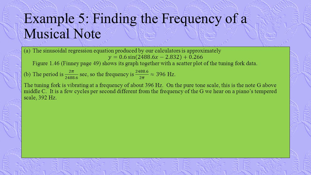 Example 5: Finding the Frequency of a Musical Note