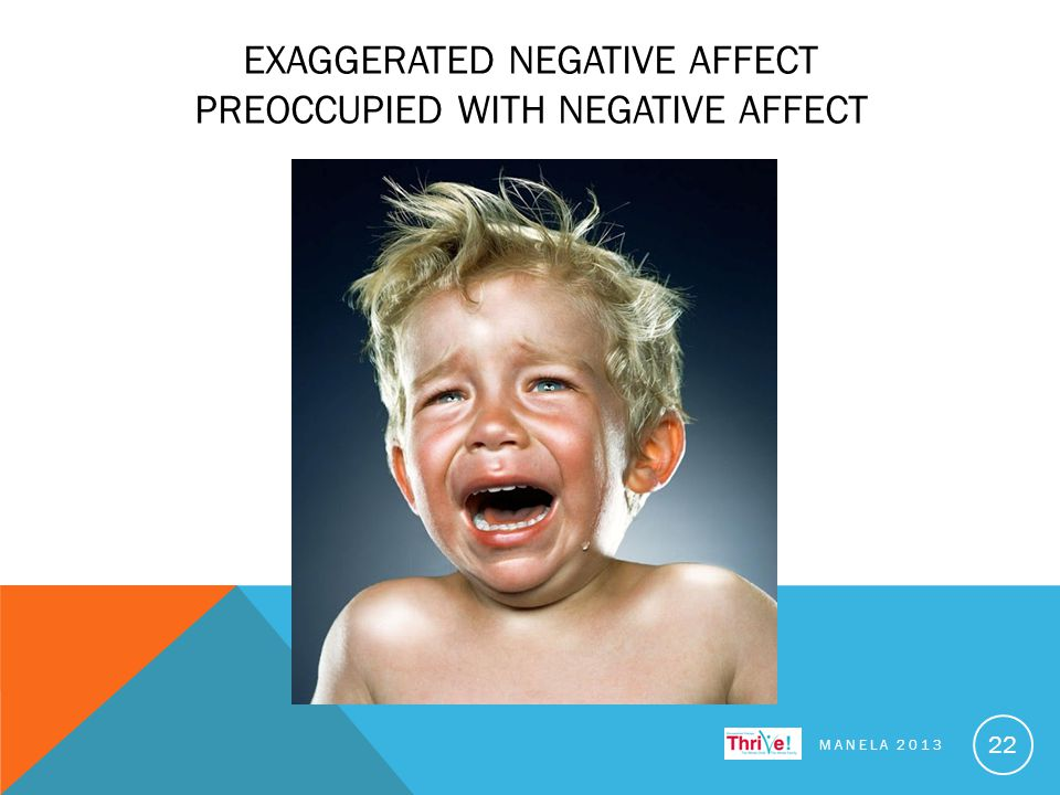 EXAGGERATED NEGATIVE AFFECT PREOCCUPIED WITH NEGATIVE AFFECT MANELA 2013 22