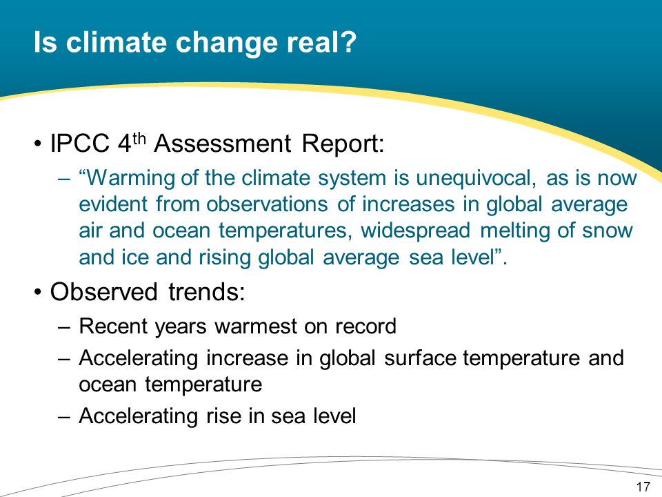 Is climate change real.